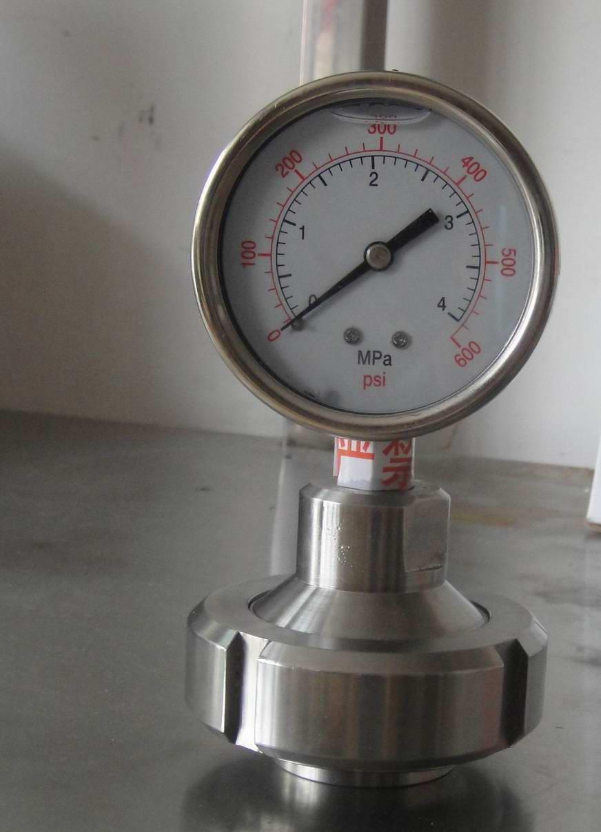 中国 东莞/螺母式卫生型隔膜压力表
