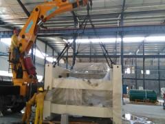 金丰500吨冲床卸车、移位、下基坑、定位