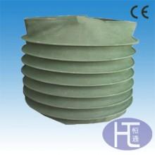 帆布短管 耐高温方形通风软连接 水泥输送白色帆布伸缩袋