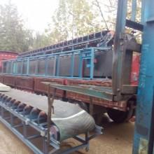 固定爬坡式散料输送机,双槽钢沙子输送机