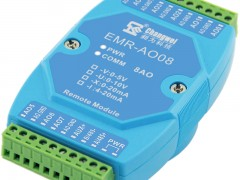 RS485控制8路4-20mA模拟量信号输出模块