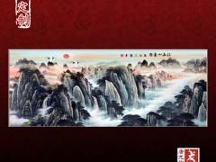 陶瓷风景壁画 陶瓷山水壁画 大型装饰壁画墙