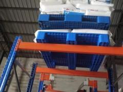托盘厂家-烟台潍坊塑料叉车托盘川字网格型1210(加钢管)